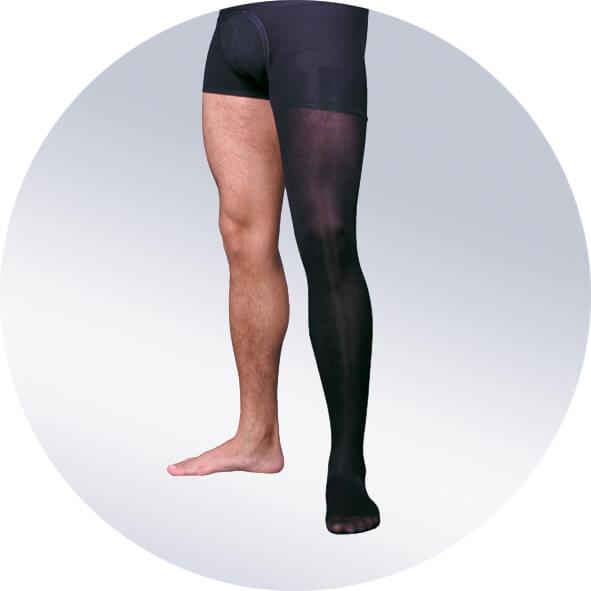 Мужской чулок на одну ногу, плотный