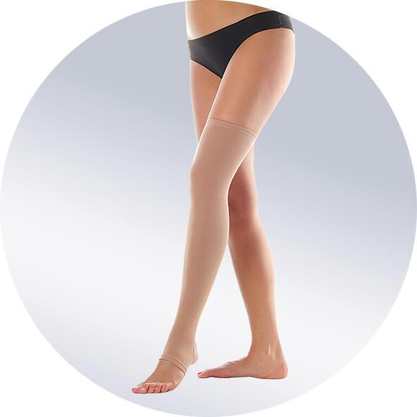 Бандаж-чулок на одну ногу короткий, плотный