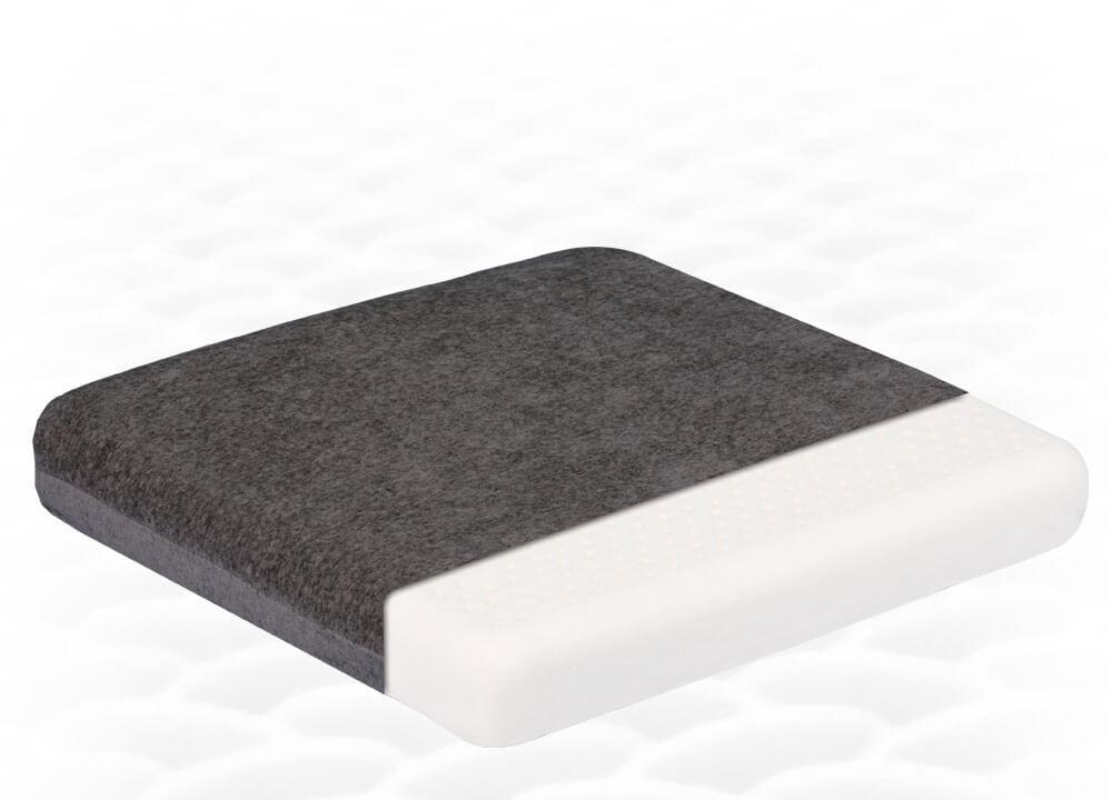 Ортопедическая подушка на сиденье из натурального латекса ТОП-207