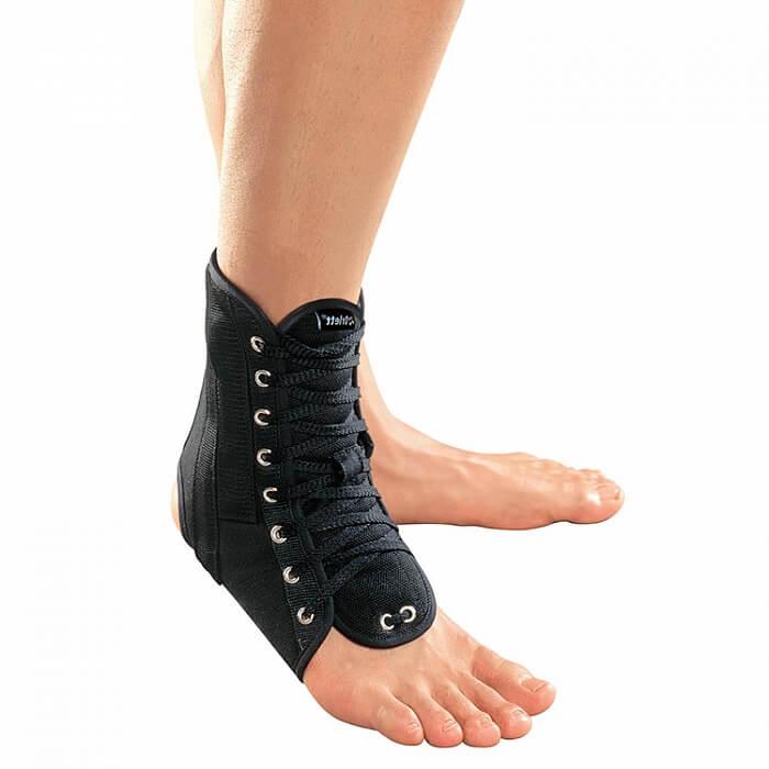 Голеностопный ортез с ребрами жесткости со шнуровкой Orlett LAB-201