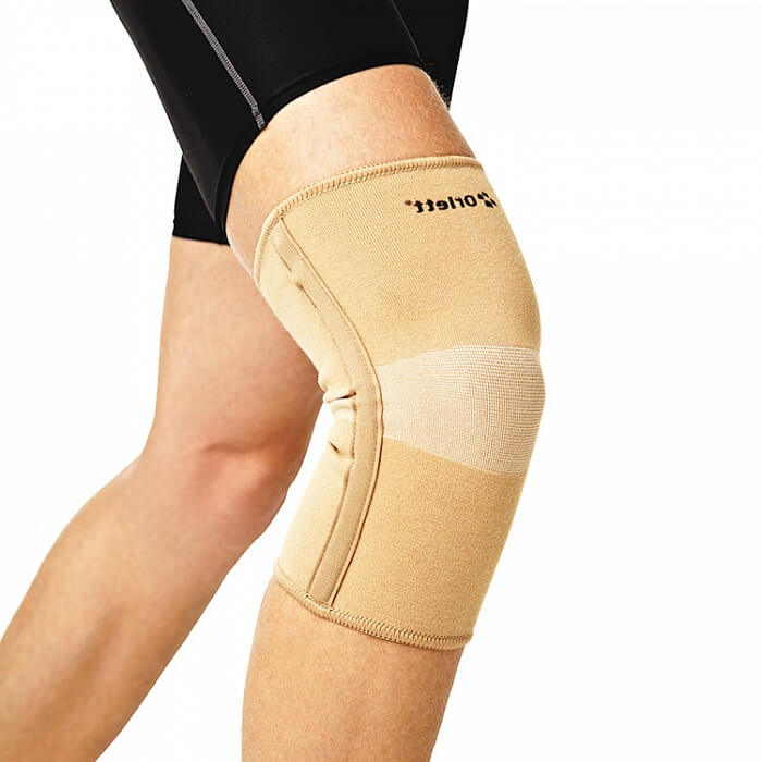 Эластичный коленный бандаж (со спиральными ребрами) Orlett MKN-103(M)