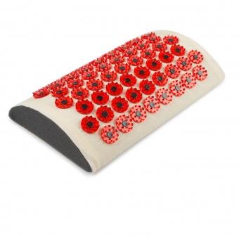 Аппликатор Кузнецова мягкий валик для поясницы. Красный – менее острые иглы, магнитные вставки