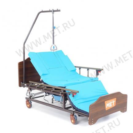 Функциональная кровать для ухода за лежачими больными с переворотом, туалетом и матрасом
