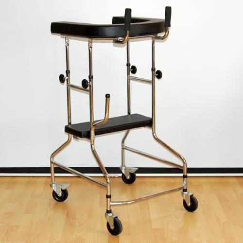 Опоры-ходунки ортопедические, регулируемые по высоте на 4-х колесах
